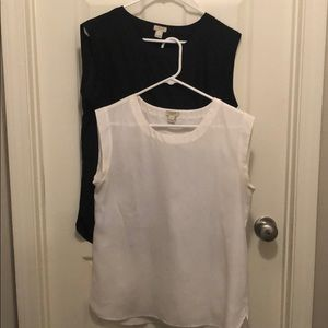 2 J-crew sleeveless blouses